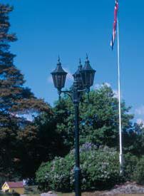 Regent stolpelampe klassisk udendørslampe