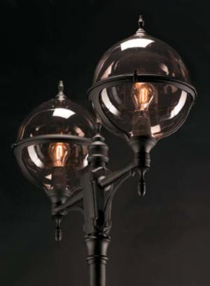 Roulette stolpelampe klassisk udendørsbelysning