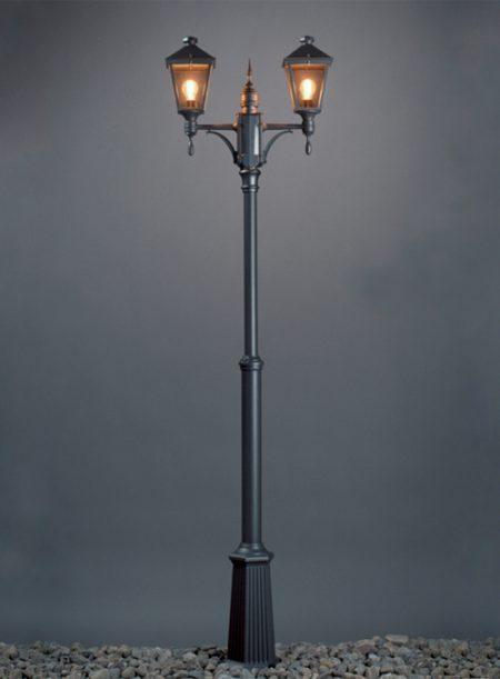 Torino stolpelampe klassisk udendørsbelysning