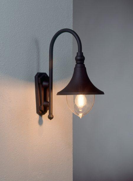 Trumpet væglampe klassisk udendørslampe