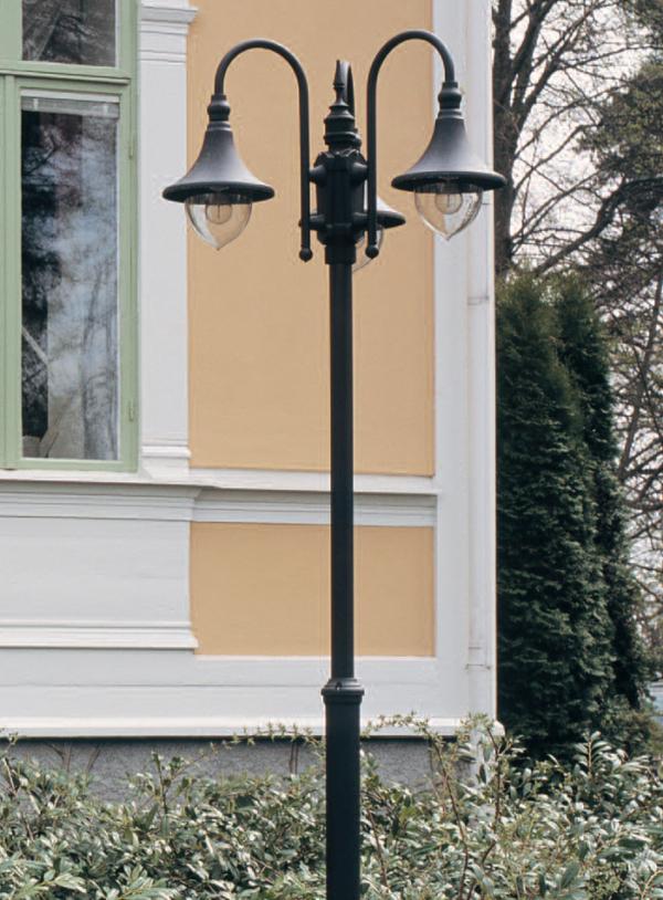 Trumpet stolpelampe klassisk udendørslampe